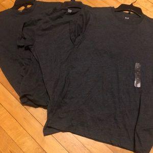 3 Gap men's shirt dark grey new